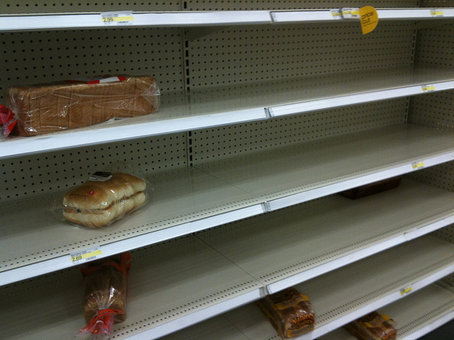 Supply did not meet the demand: Empty bread shelves at Target