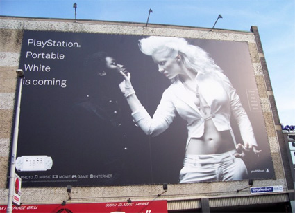 In 2006, Sony revealed a Questionable Campaign Billboard Promoting its White PSP'
