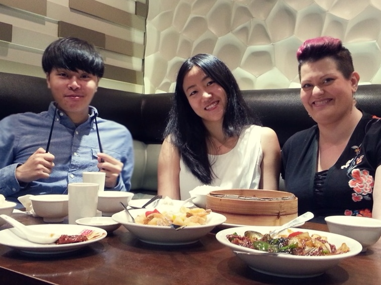 Younghun's Farewell Lunch with QEQ's Tina Sun and Vanessa Vachet