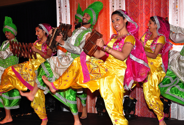 Diwali Events are colourful and Big, like these dancers at Simon Fraser University