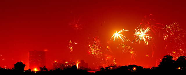 Fireworks over Chennai, India, during Diwali week