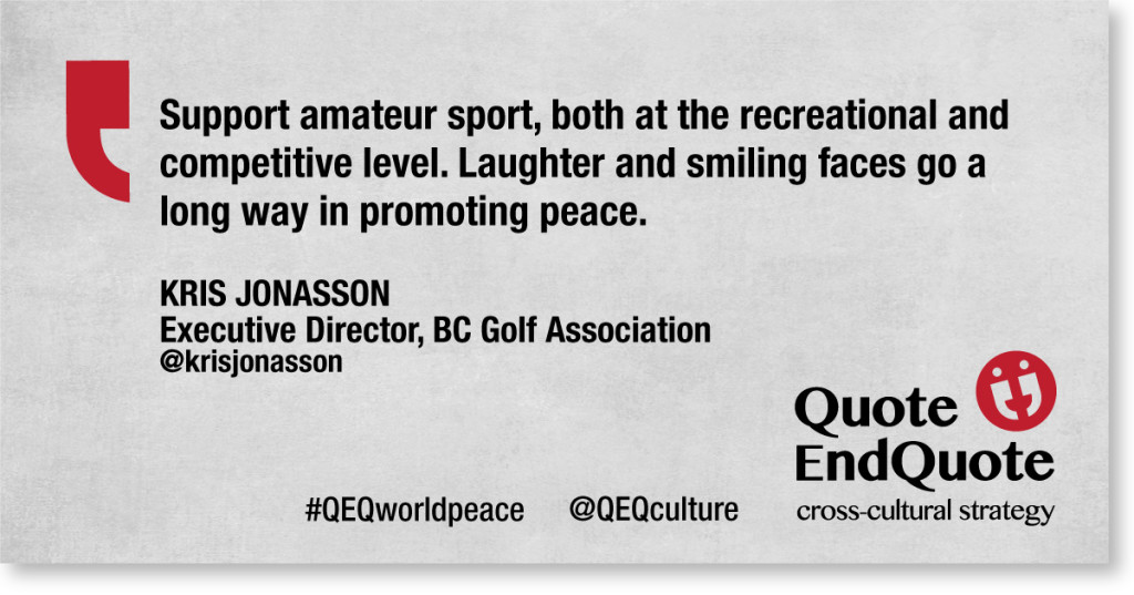 A Quote from Kris Jonasson, Executive Director, BC Golf Assoc.