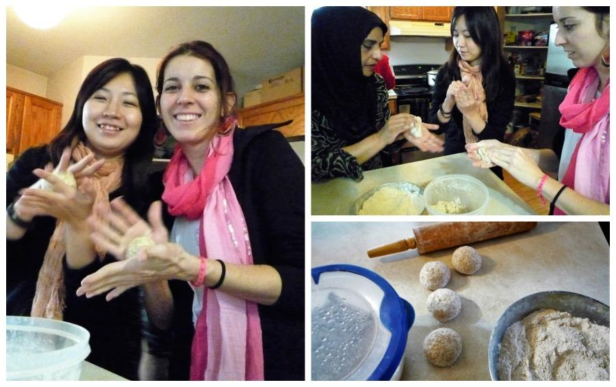 QEQ TeamLearns about Making Roti at a Hindu Temple or Mandir