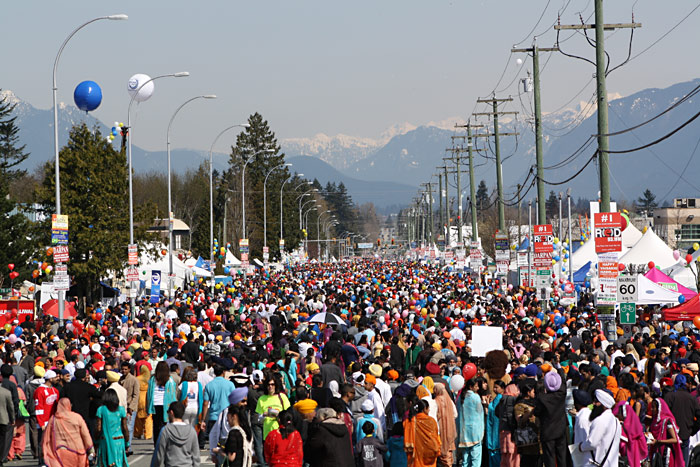 200,000+ visitors attend the Vancouver and Surrey Vaisakhi Parades!